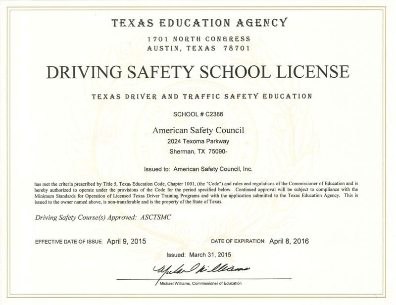 Texas Driving Safety School - Your Approved Texas Defensive Driving ...
